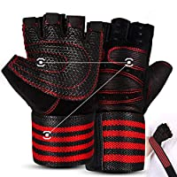 ✅ Full Palm Protection: No more torn hands and no more calluses. The Fithlethic Workout Gloves protect your hands fully. The wrist support can protect your arms from spraining and the foam pad on the palm will buffer the impact of sports apparatus. ✅...