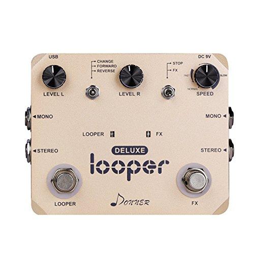 Donner Deluxe Looper Guitar Effect Pedal Loop Station