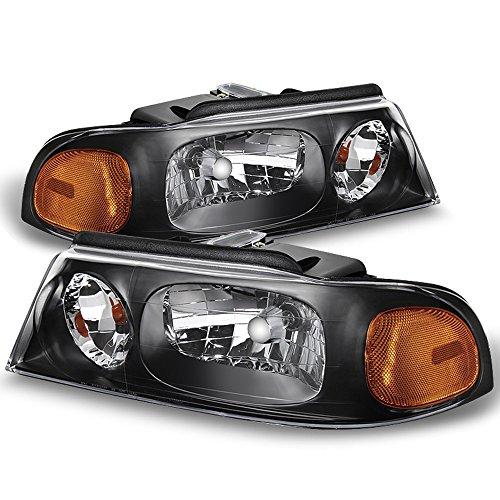 ACANII - For 1998 1999 2000 2001 2002 Lincoln Navigator Headlights Headlamps 98-02 Driver + Passenger Side