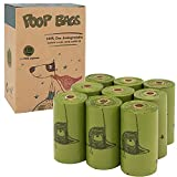 """Value Pack - The box comes with 135 dog poo bags on 9 refill rolls with 1 free dispenser and leash clip. Supports Small to Large Dogs - These puppy poop bags are 9""""x 13"""" in size which make it easier to pick up and safely store messy feces and deposit..."""