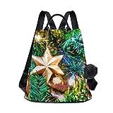 Mochila impermeable para mujer, antirrobo, clásica, bolsa de viaje, bolsa de hombro, adorno de árbol de Navidad