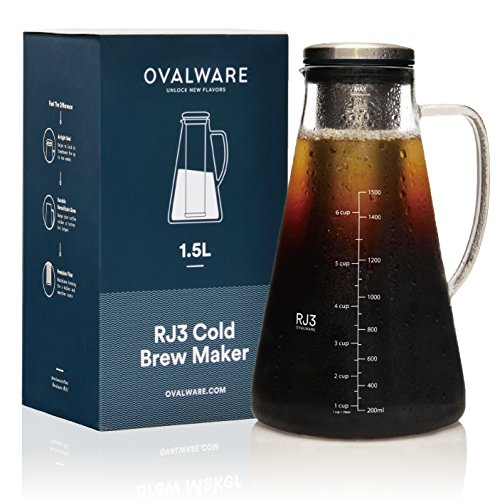 Airtight Cold Brew Iced Coffee Maker (& Iced Tea Maker) with...