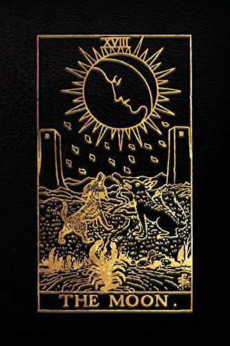 The Moon Tarot Card Notebook, Black and Gold - 120 blank...