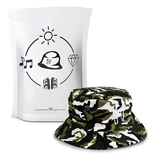 HUEBI Bucket Hat / Fischerhut - Modern und stylisch durch den Sommer, L, Camouflage