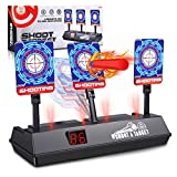 (2020 Updated Edition) Electric Digital target for Nerf Guns,Scoring Auto Reset Nerf Target for Shooting with Wonderful Light Sound Effect for Blaster N-Strike Elite/Mega/Rival Series for boys girls