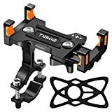Tiakia Bike Phone Mount - Universal Motorcycle Mount Anti Shake & Anti-Theft, Face & Touch ID Bicycle Phone Holder 360° Rotation for 4.7-7.2 inches Smartphone