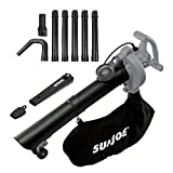 Sun Joe SBJ606E-GA-GRY 14-Amp 250MPH 4-in-1 Electric Blower/Vacuum/Mulcher/Gutter Cleaner, Grey