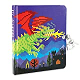 Peaceable Kingdom Pixel Dragon Diary with Lock and Key
