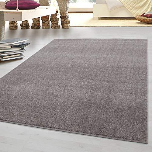 HomebyHome tappeto moderno a pelo corto, economico, tinta unita mlange, per salotto, camera da...