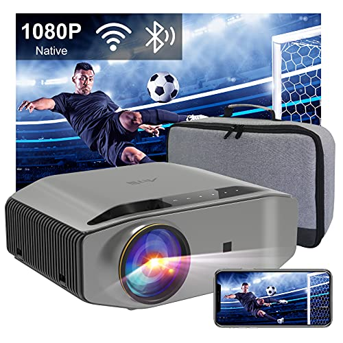Videoprojecteur Full HD WiFi Bluetooth - Artlii ENERGON 2, 2.4G/5.0G WiFi, Retroprojecteur 1080P natif,Soutiens 4K, Projecteur Compatible iOS, Android Téléphone pour Films,Jeux Nintendo Switch PS4/5