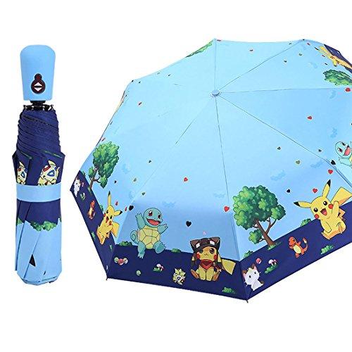 Rosavida Kids Folding Umbrella- Automatic Open- Cartoon- UV Protection- Travel Umbrella Compact Windproof for Girls Boys Women #1