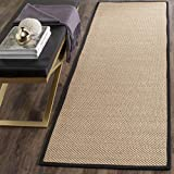 Safavieh Natural Fiber Collection NF141A Tiger Paw Weave Maize and Black Sisal Area Rug (2' x 3')