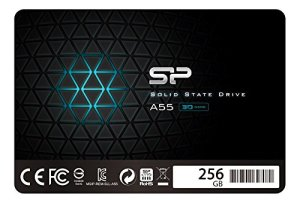 Silicon Power 256GB SSD 3D NAND A55 SLC Cache Performance Boost SATA III 2.5' 7mm (0.28') Internal Solid State Drive (SP256GBSS3A55S25)