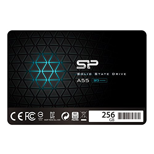 Silicon Power SSD 256GB 3D NAND A55 SLC Cache Performance Boost 2.5 Pollici SATA III 7mm (0.28') SSD...