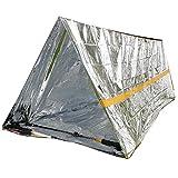 Ouken Tente d'urgence de Survie Tente Simple Tente Abri par Temps Froid extérieur Tente 2.4* 1.5* 0.9m 1PC