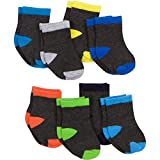 Gerber Baby 8 Pack Snug-fit Crew Sock, Color Block, 0-6 Months