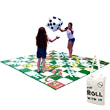Giant Snakes and Ladders Game 3 Metres x 3 Metres PVC Durable Mat and Inflatable Dice - Giant Garden Game for Players of All Ages