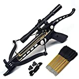Ace Martial Arts Supply Cobra System Self Cocking Pistol Tactical Crossbow, 80-Pound (Scope with 39 Arrows and 2 Strings)