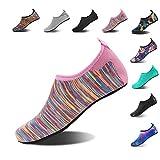 HMIYA Aqua Socks Beach Water Shoes Barefoot Yoga Socks Quick-Dry Surf Swim Shoes for Women Men (Color Pink, 40/41EU)