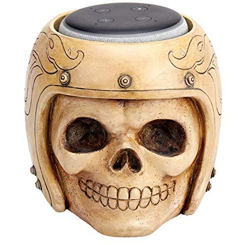 ArtizStudio Echo Dot Stand,Smart Speaker Stand Holder for Echo Dot 3rd Generation,Speaker Holder,Skull Statue Crafted,Home,Offfice,Living Room Decorations