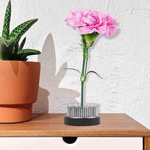 Ikebana kenzan, pino do arranjo de flores, ferramenta de arranjo de flores diy, acabamento requintado em aço inoxidável para escritório em casa(80mm)