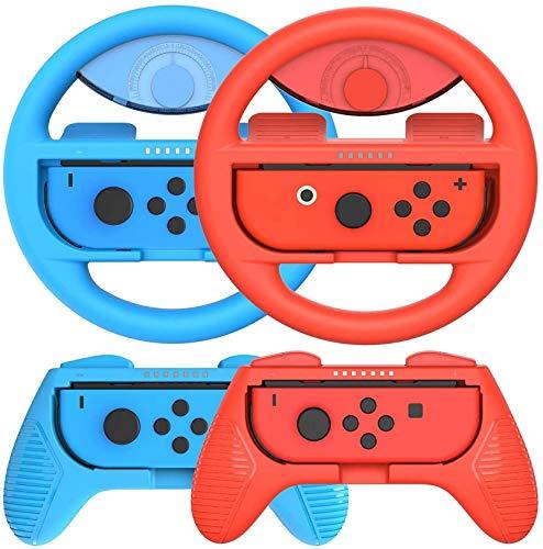 QDY Switch Steering Wheels para Joy-con Controller, Empuñadura para...