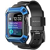 SUPCASE [Unicorn Beetle PRO Custodia Apple Watch 4 / Watch 5 / Watch 6 / Watch SE [44mm] con Cinturino da Ricambio per Apple Watch Serie 4 2018, Serie 5 2019, Serie 6 e SE 2020, Blu