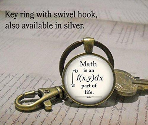 Math is an integral part of Life keychain, math keychain...