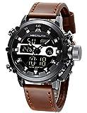 MEGALITH Montre Homme Montre Militaire Sport pour Homme Etanche Chronographe Alarme Date LED...
