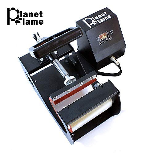 PlanetFlame Factory CE 6-11oz Mug Heat Press Machine, Professional Digital Display Sublimation Printing Machine Heat Transfer Presses for Coffee Mug Cup Bottle (Red, 11oz)
