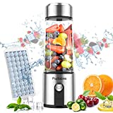 Portable Blender,PopBabies Personal Blender Smoothie Blender on the go with USB Rechargeable, 5200 maH Powerful Longer Life Smoothie Blender,Tritan Juicer Cup (BPA free)