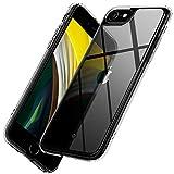 【Caseology】 iPhone SE ケース 第2世代 SE2 透明 プレミアム 強化 ガラス カバー 硬度 9H 耐久性 全面保護 傷防止 側面 TPU カペラ (クリスタル・クリア)
