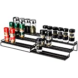Veesun Expandable Spice Rack Organizer for Cabinet Kitchen Countertop Pantry,Standing Spice Organizer,Adjustable Wide(12.6' to 25'),Bronze.