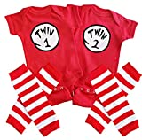 Perfect Pairz Twin 1 Twin 2 + Leggings USA Made Outfit(6M Long Sleeve)