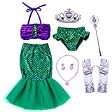 Party Chili Princess Mermaid Costume Birthday Party Dress for Toddler Girls 18-24 Months