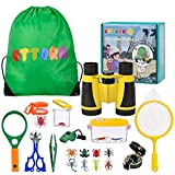UTTORA Loupe Enfant,Jumelles Enfant,22 Pièces Kit Exploration d'enfants Jouets...