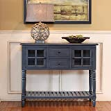 Dcor Therapy Accent Table, Antique Navy