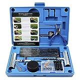 MAIKEHIGH Kit de réparation de Pneu Heavy Duty Ensemble de 67 pièces pour Moto, VTT, Jeep, Camion, Tracteur...