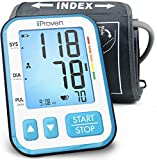 iProven Blood Pressure Monitor Upper Arm, Digital Blood Pressure Meter with Large Arm Cuff, Large Screen with Backlight, 120-reading Memory (60x2 Users), Batteries Included BPM-656