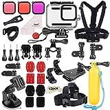 Deyard Kit d'Accessoires 52 en 1 pour GoPro Hero 8 Noir, Boîtier Etanche 3...