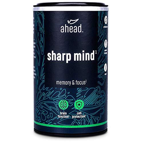 ahead SHARP MIND | Effektiver Booster mit B5 und B12 für Konzentration und Gedächtnis* | Mit CDP Cholin, Phosphatidylserin und Brahmi - OHNE Koffein | 90 Kapseln