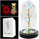 Colorful Artificial Flower Rose Gift, Led Light String on The Colorful...