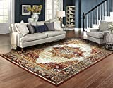 Luxury Distressed Rugs for Living Room 8x10 Red Rug Prime Rugs Clearance 8x11
