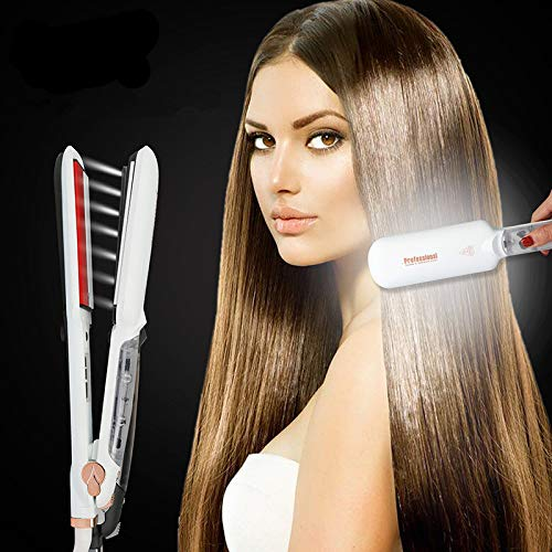 Professional Steam Hair Straightener Ceramic Vapor...