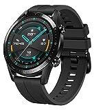 HUAWEI Watch GT 2 Smartwatch (46mm Full-Color-AMOLED, SpO2-Monitoring, Herzfrequenzmessung, Musik Wiedergabe&Bluetooth Telefonie, 5ATM wasserdicht, GPS) Matte Black