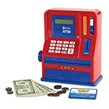 Learning Resources Teaching ATM Bank, Blue & Red, Classic Toy, 32 Pieces, Ages 3+
