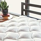ViscoSoft Copper Mattress Pad Full - Extra Plush Pillowtop Mattress Topper for Pain Relief