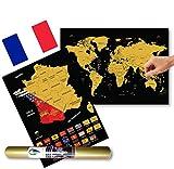 Global Walkabout FRANÇAISE - A3 Carte du monde à gratter avec des...