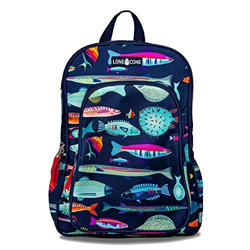 LONECONE Kids' 15' Backpack for Boys & Girls in Preschool, Kindergarten, School of Fish