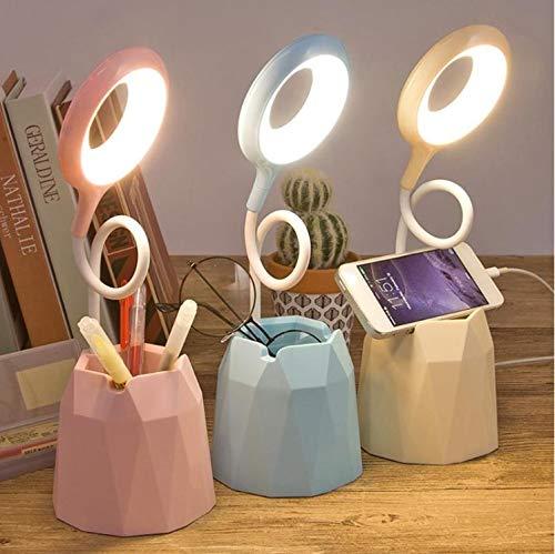 hayden Plastic Desk Lamp With Pen/Phone Holder, Multicolour,Pack of 1